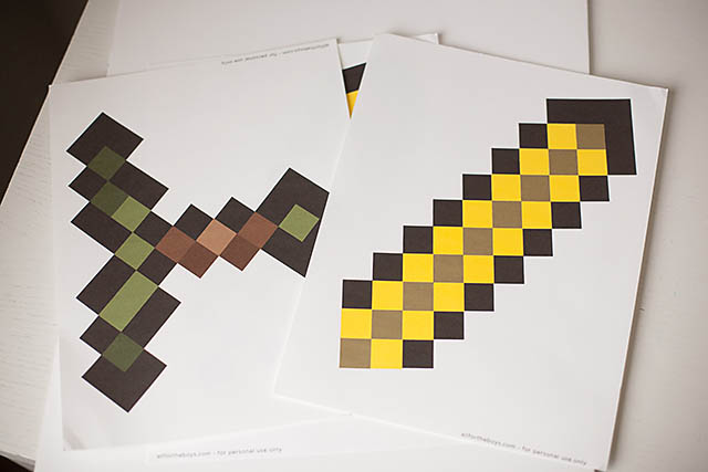 image about Minecraft Printable Paper referred to as Electronic In direction of Legitimate Existence: Do-it-yourself Minecraft Sword All for the Boys