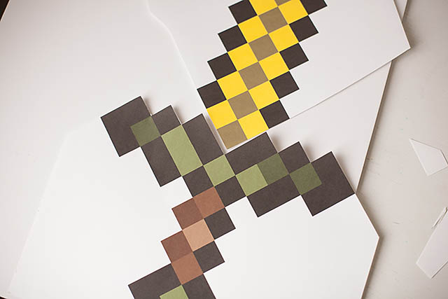image about Minecraft Sword Printable named Electronic In direction of Legitimate Daily life: Do it yourself Minecraft Sword All for the Boys