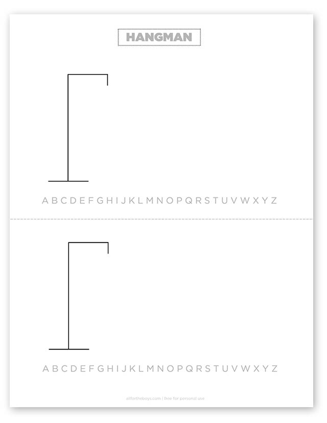 image regarding Hangman Printable called Highway Vacation Boredom Busters All for the Boys