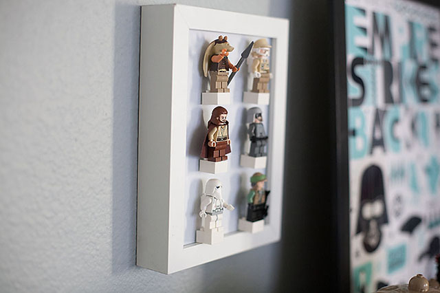 Diy Lego Minifig Display All For The Boys