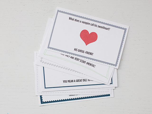 Valentine Printable Joke Notes All For The Boys