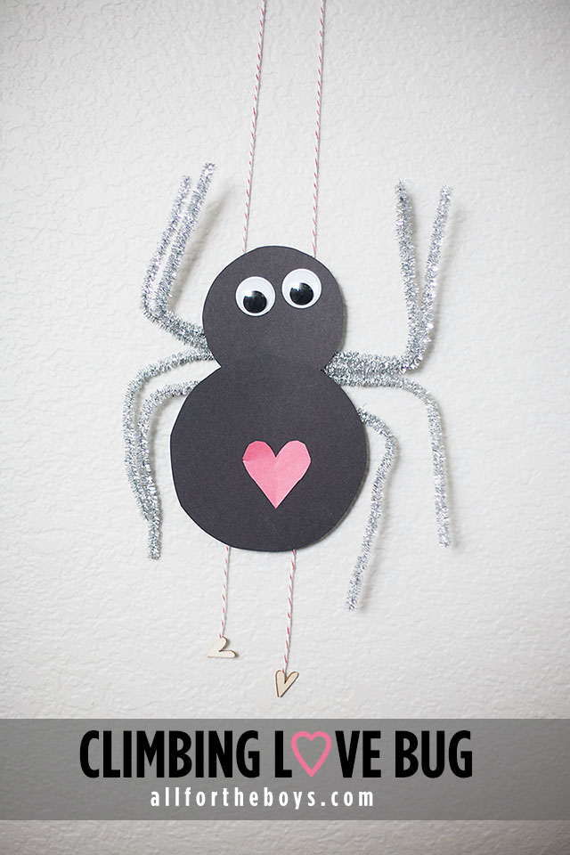 Climbing Love Bug craft