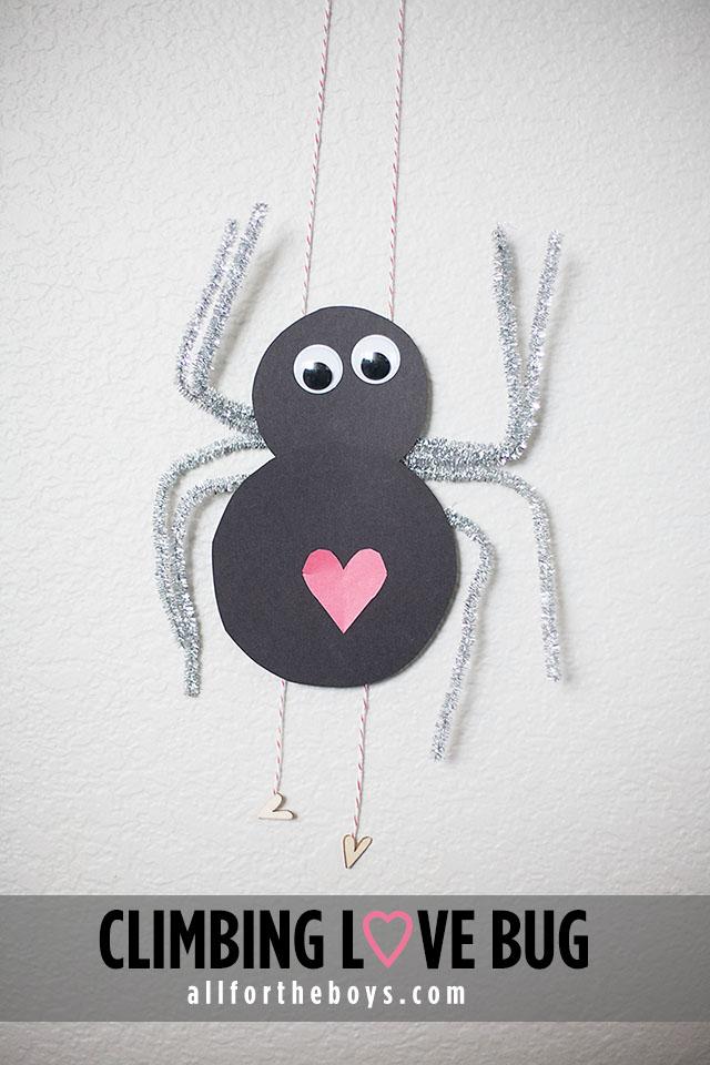 Climbing Love Bug craft