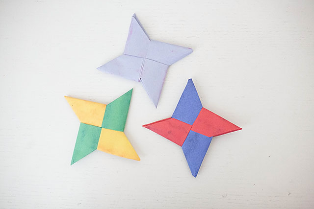 How To Paper Ninja Stars All For The Boys