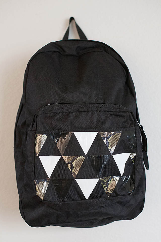 Diy Duct Tape Personalized Backpacks All For The Boys