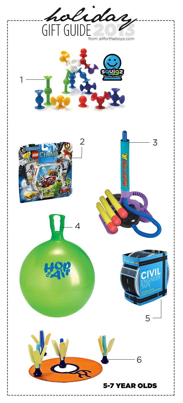 2013 Holiday Gift Guide: 5-7 Year Olds — All for the Boys