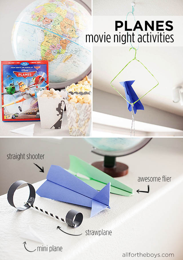 disney planes movie night activities all for the boys. Black Bedroom Furniture Sets. Home Design Ideas