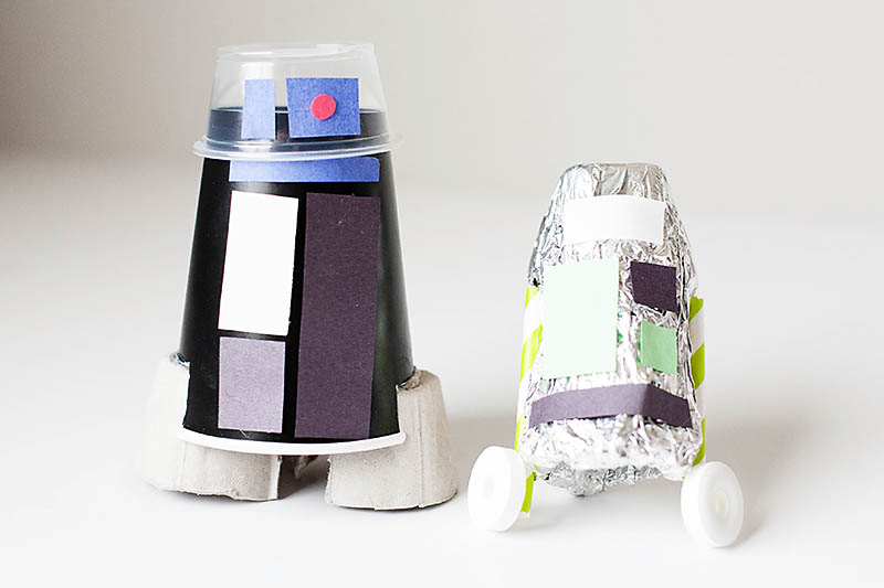 DIY Recycled Droid craft from All for the Boys blog