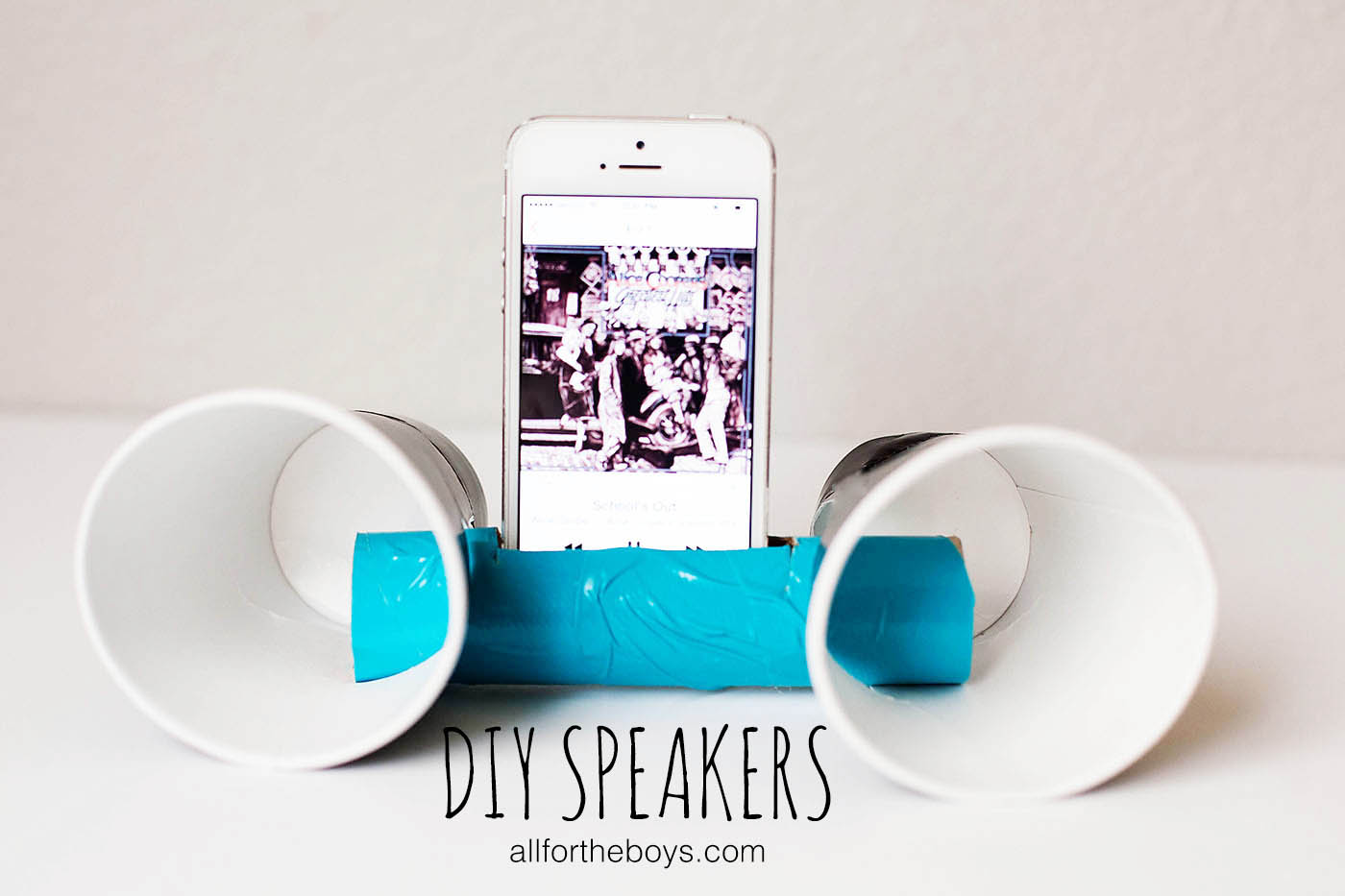 DIY speakers from All for the Boys blog