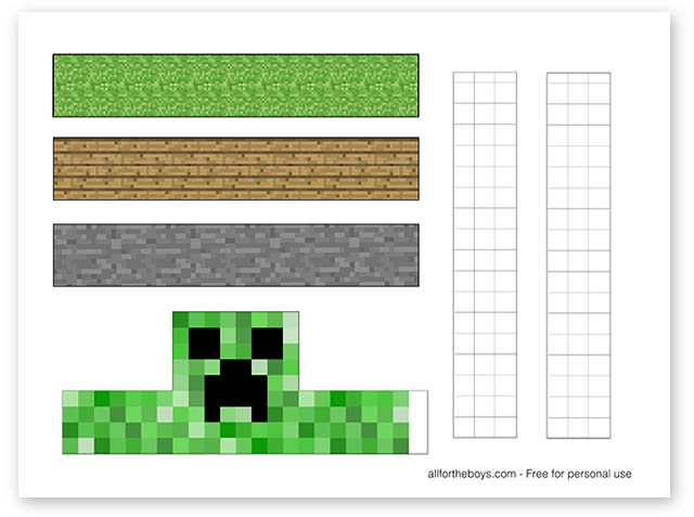 photo relating to Free Printable Minecraft titled Cost-free Printable Minecraft Easter Egg Stands All for the Boys