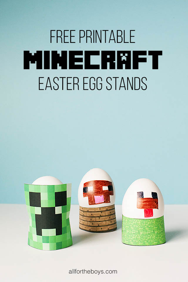 Printable Minecraft Easter Eggs