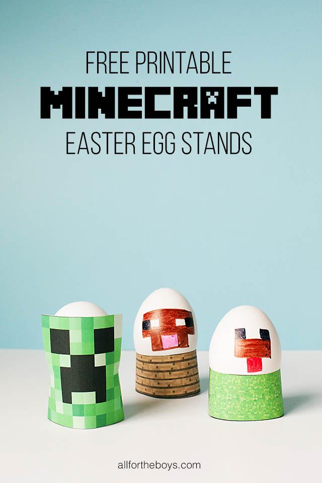 Printable Minecraft Easter Eggs