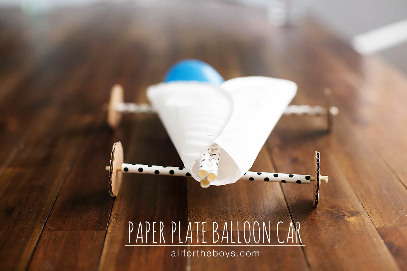Paper plate balloon car all for the boys