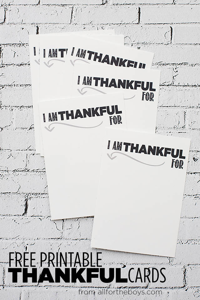 Printable thankful cards