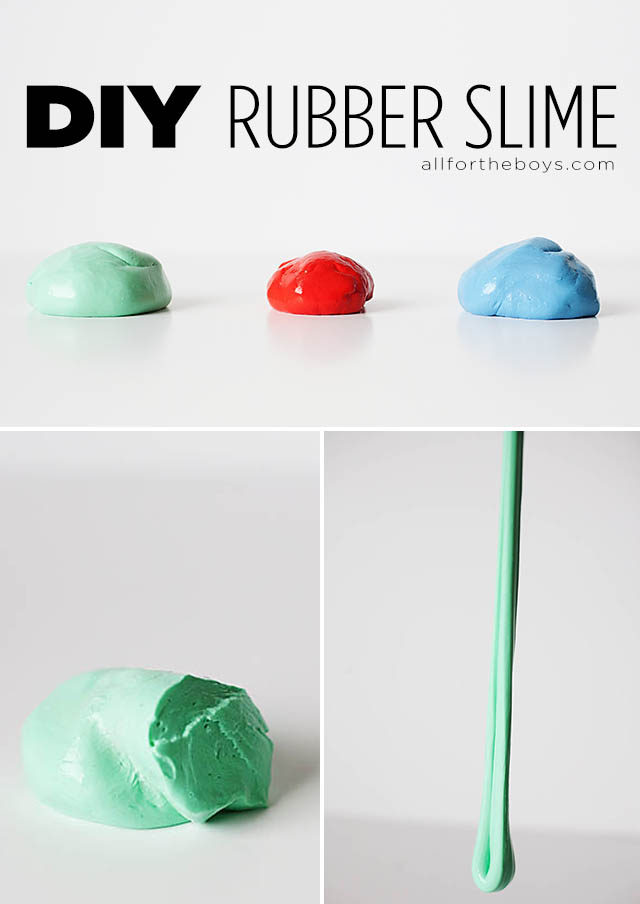 Diy rubber slime all for the boys stretchy a bit bouncy not too slimy and tons of fun to make and play with this diy rubber slime is sure to be a hit in your house ccuart Choice Image