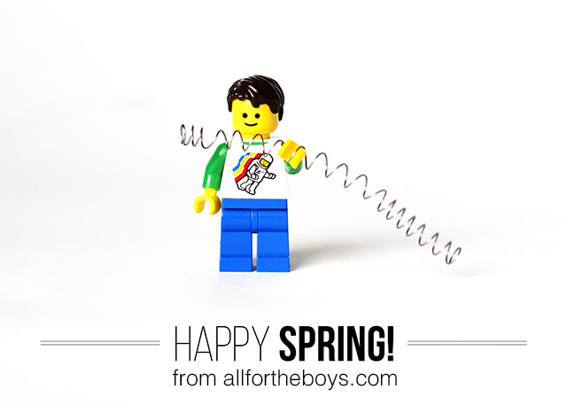 Happy Spring - free printable card from All for the Boys