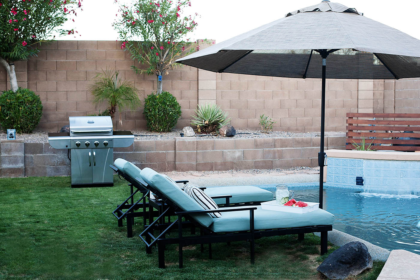 Backyard makeover with pool before after big backyard for Backyard makeover with pool