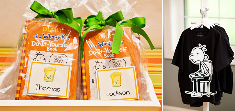 Diary Of A Wimpy Kid Party Favors