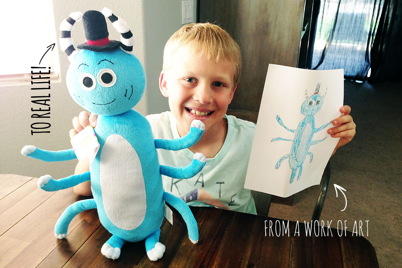 Children Create a Fantastic Line of Toys with His Drawings