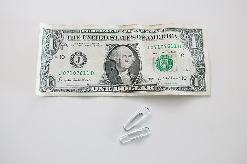 You Tell Your Aunce That Can Get The Two Paperclips To Join Using Dollar Bill Let Me Show How
