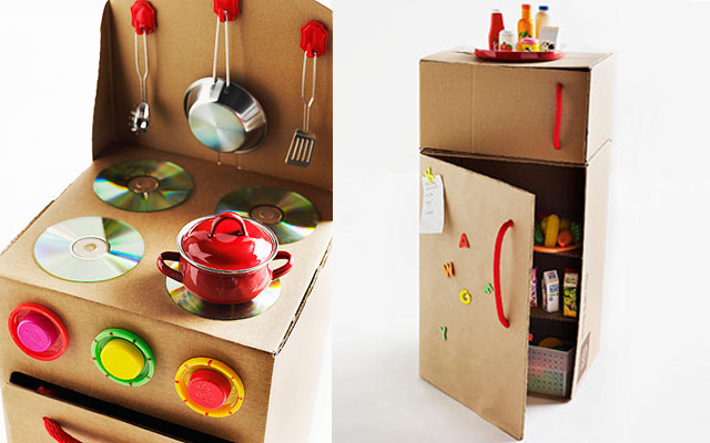 Diy cardboard gifts all for the boys - Regali natale fai da te cucina ...