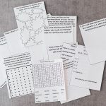 Printable Road Trip activity cards