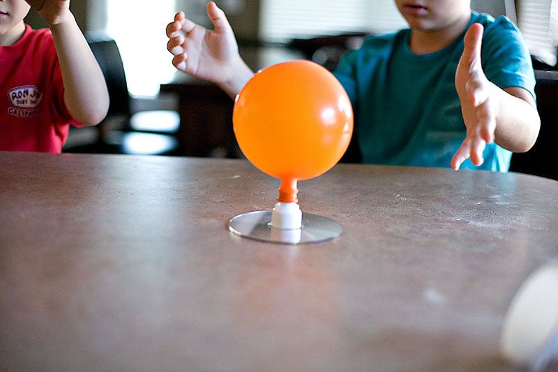 CD and balloon hovercraft