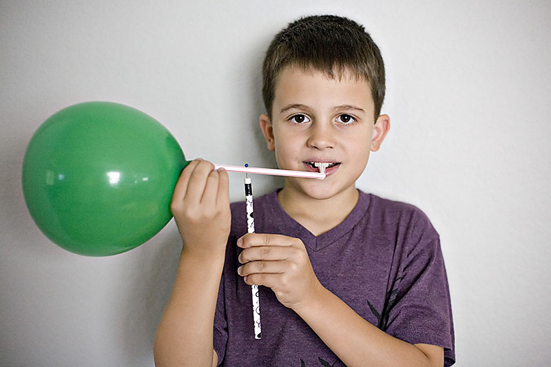 Science of motion experiment for kids