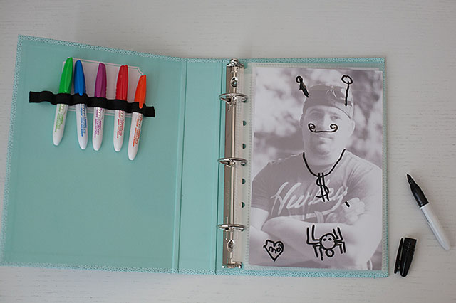 Fun personalized dry erase book from All for the Boys blog. Great for travel!
