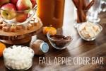 Fall Apple Cider Bar