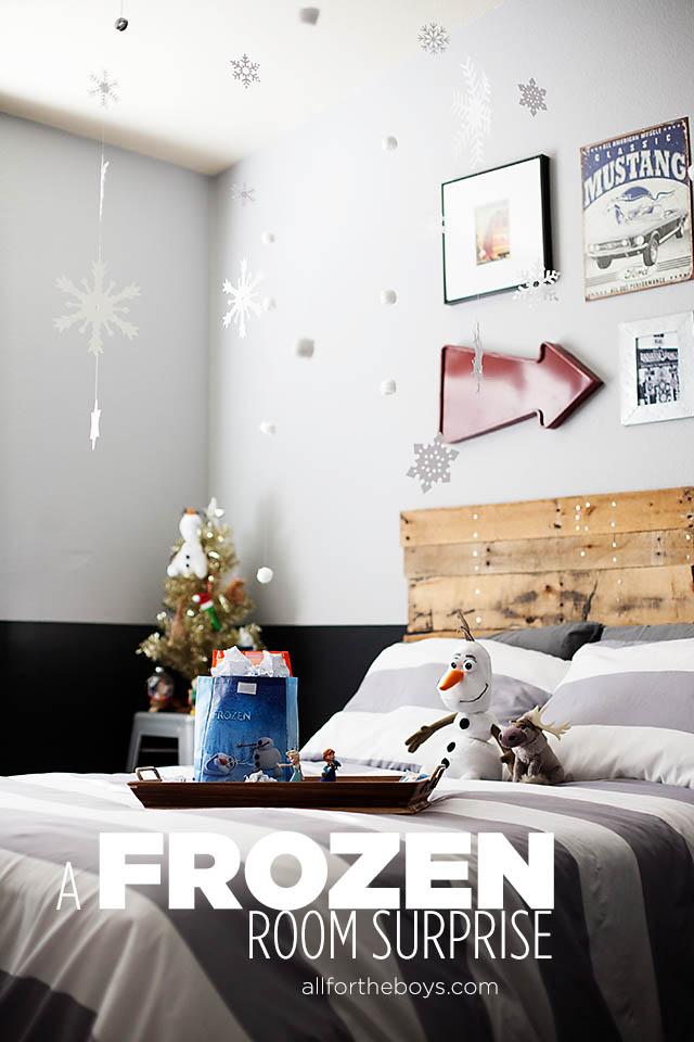 Nice A FROZEN Bedroom Surprise