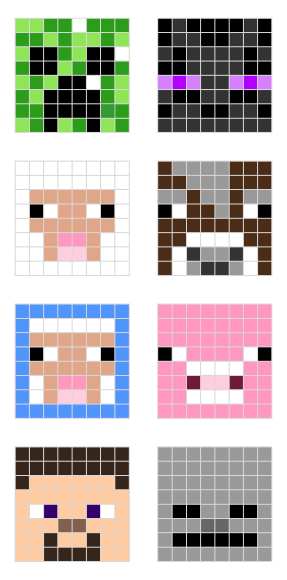Minecraft Pixel Art Templates All For The Boys