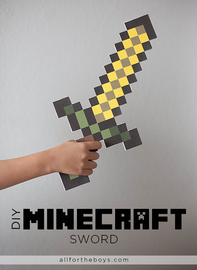 Digital to real life diy minecraft sword all for the boys digital to real life diy minecraft sword solutioingenieria Images