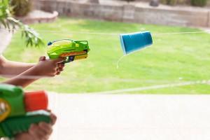 Cup races - fun outdoor game/activity!