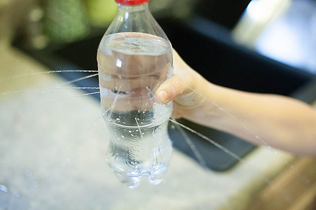 Water bottle prank