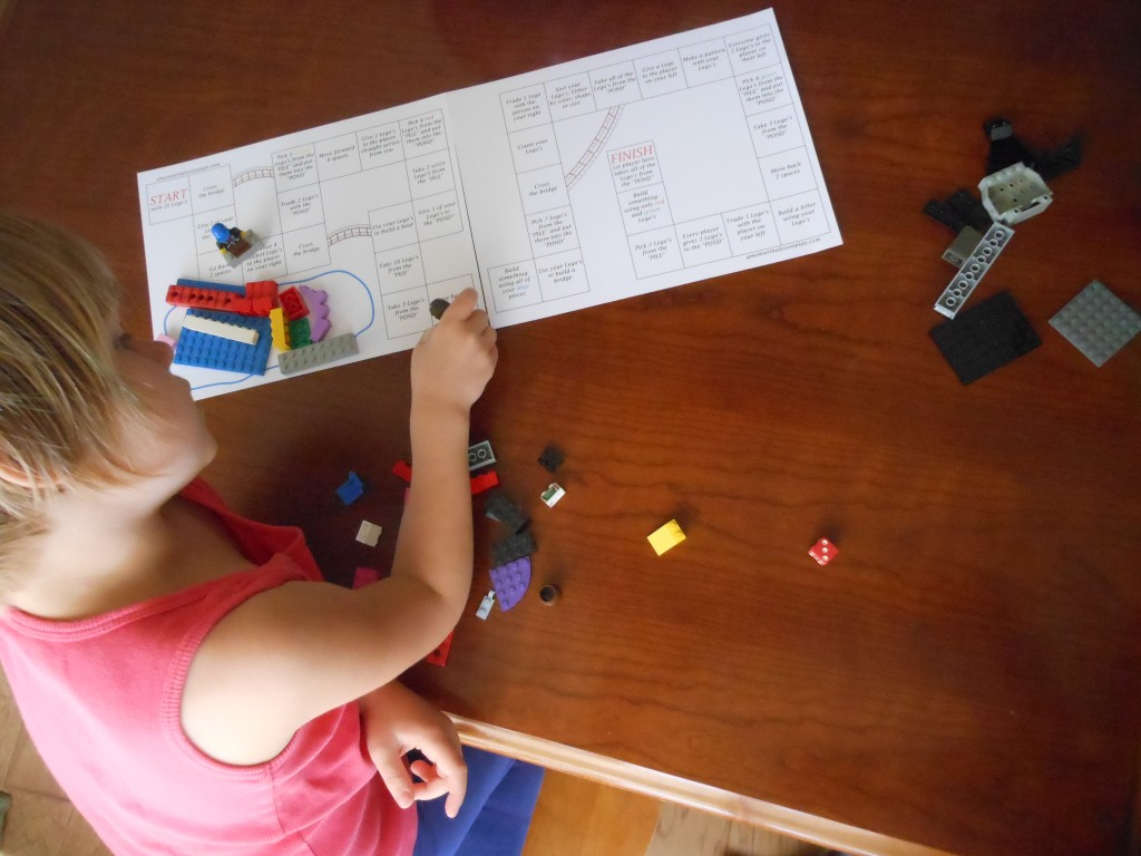 Printable LEGO games