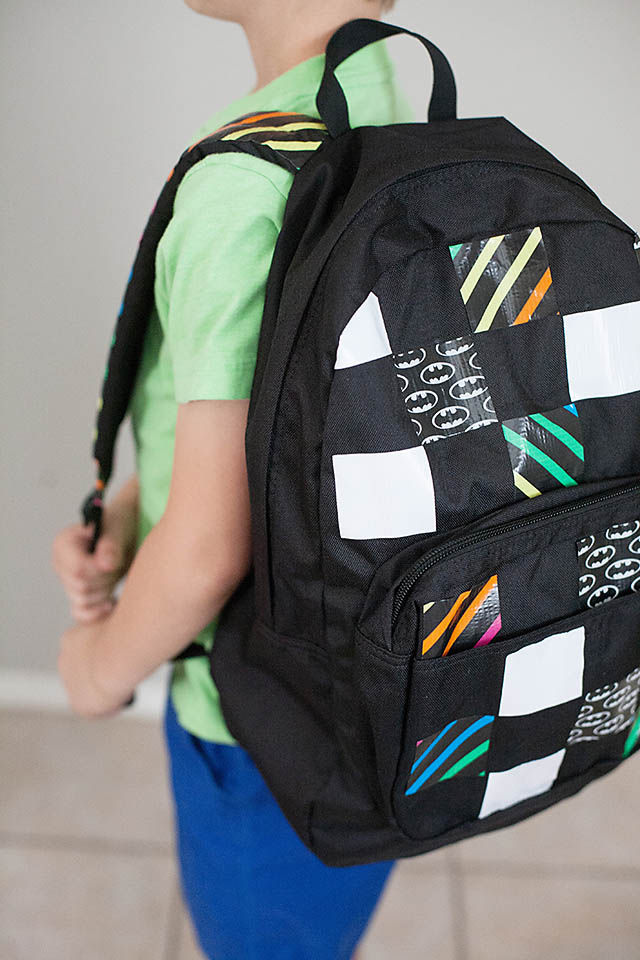 DIY Duct Tape Personalized Backpacks — All for the Boys 88f89a557d35f