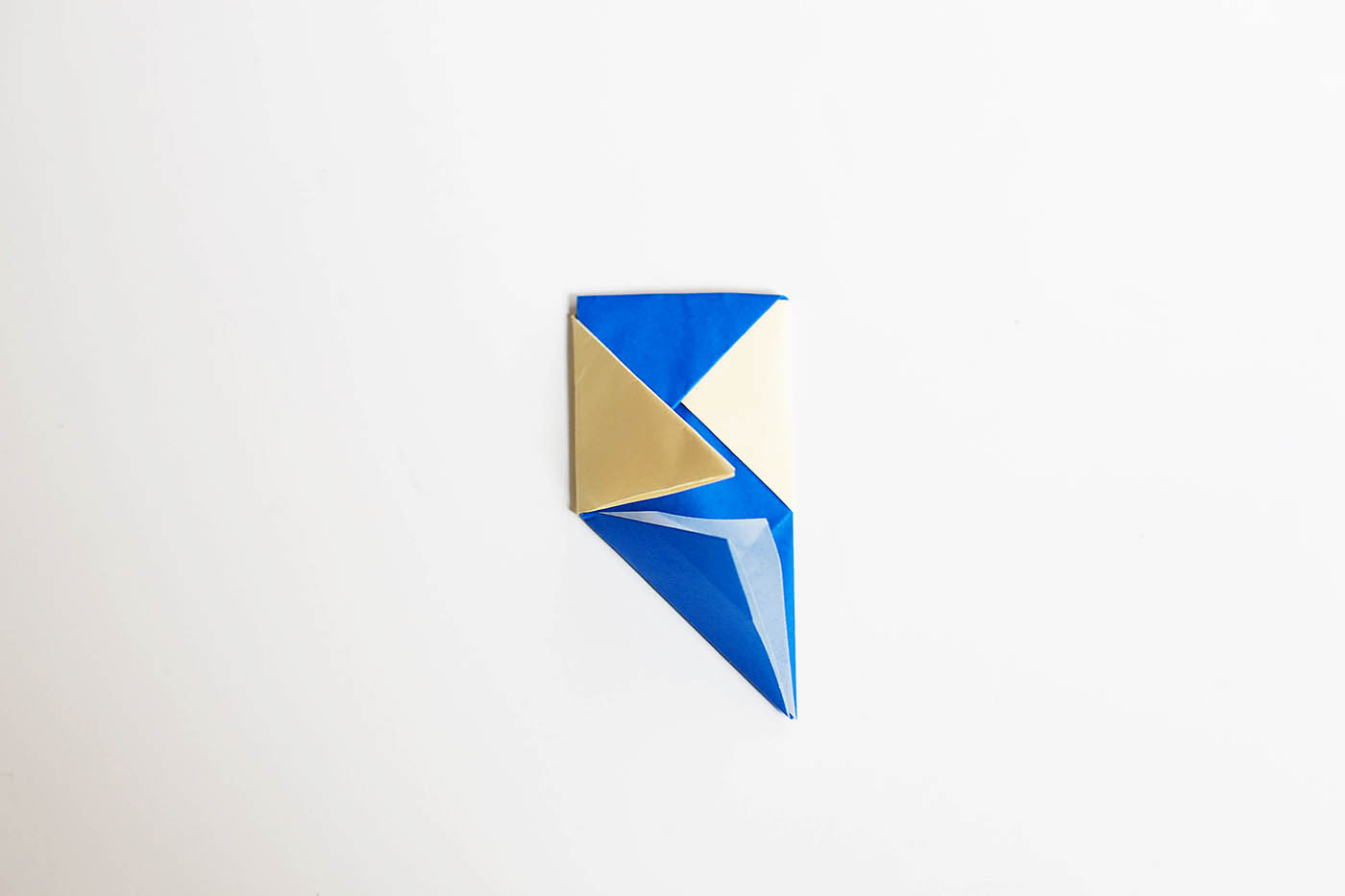DIY origami toothpick spinning top toy
