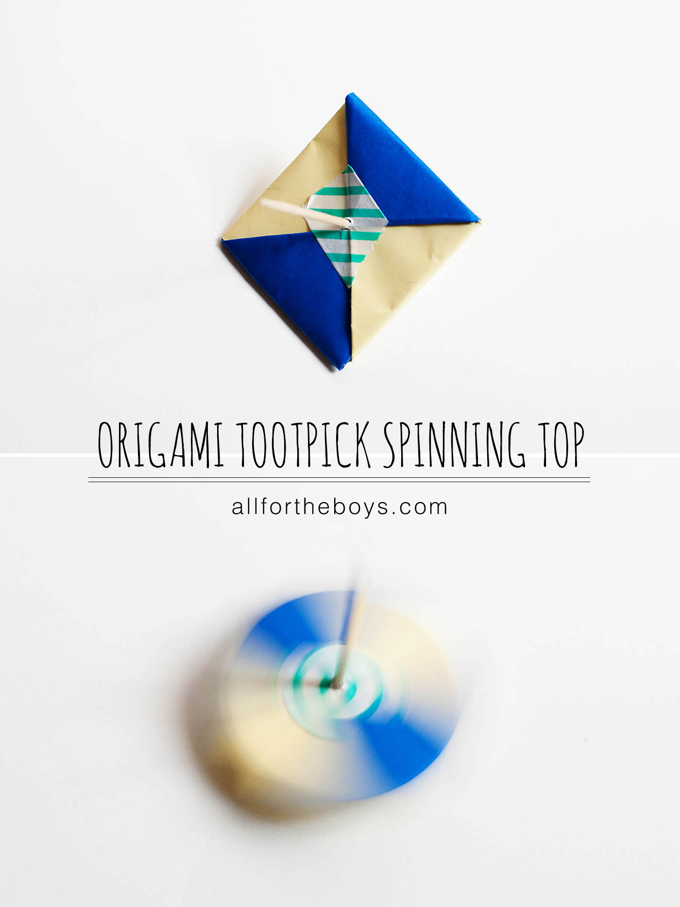 origami toothpick spinning top � all for the boys