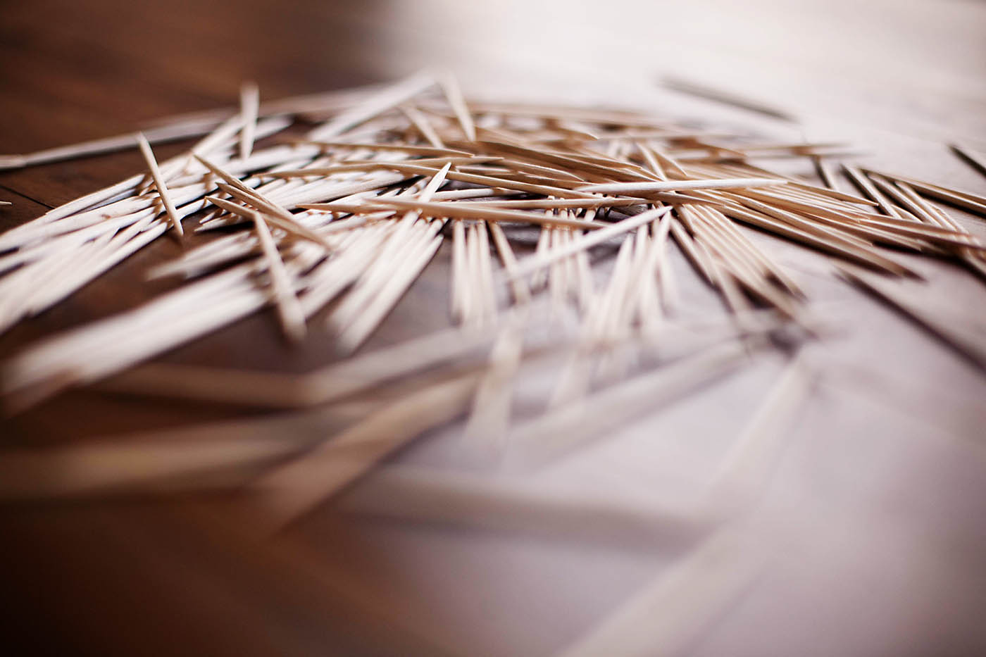 Toothpick and dough construction