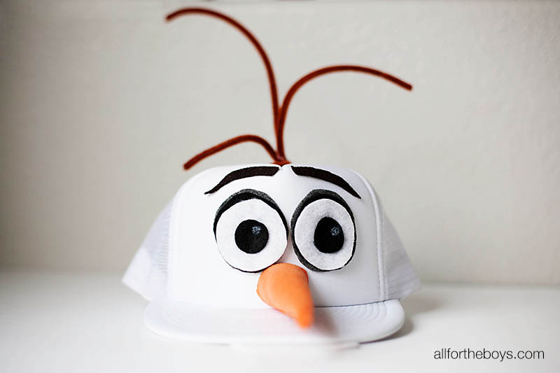 DIY Olaf hat and runDisney costume from All for the Boys blog & DIY Olaf Hat + runDisney Costume u2014 All for the Boys
