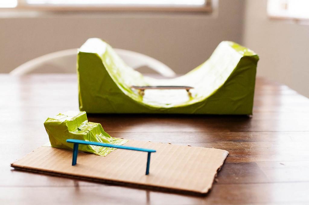 DIY Cardboard Skate Park