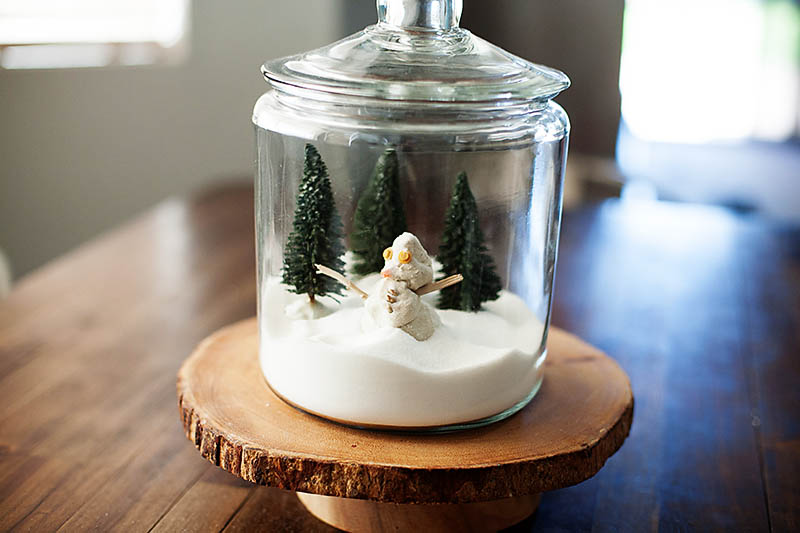 Snow Globe Terrarium You Can Play With