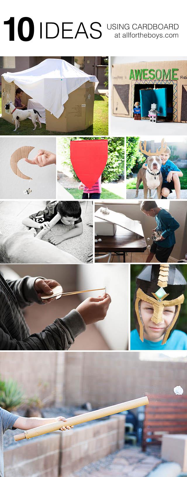 10 ideas for kids using cardboard