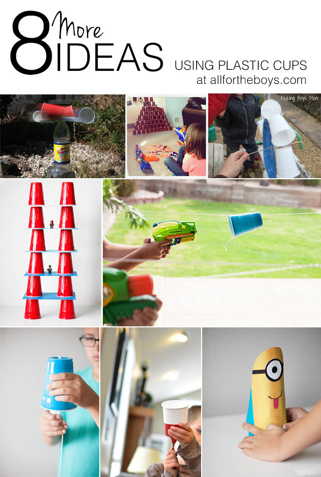 8 More Ideas Using Plastic Cups  All For The Boys-5039