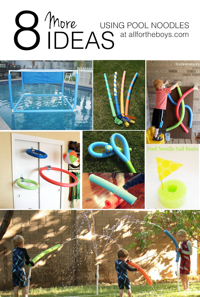 8 More Ideas Using Pool Noodles