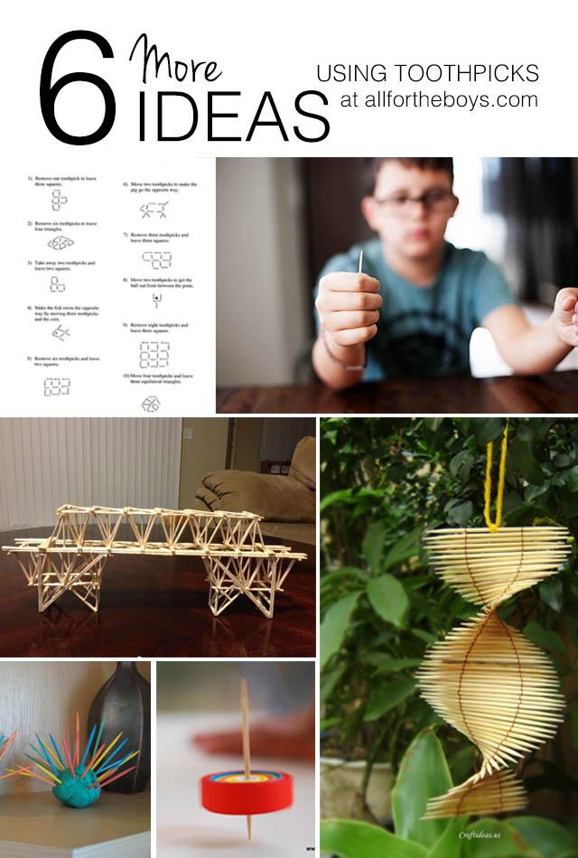 6 More Toothpick Activities