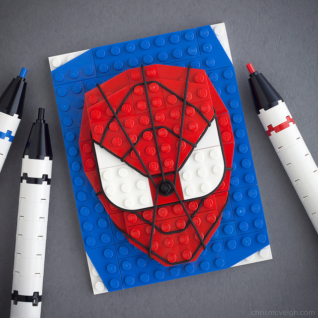 Spiderman LEGO art
