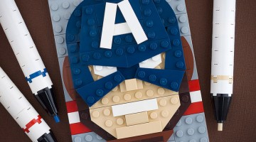 Captain America LEGO art