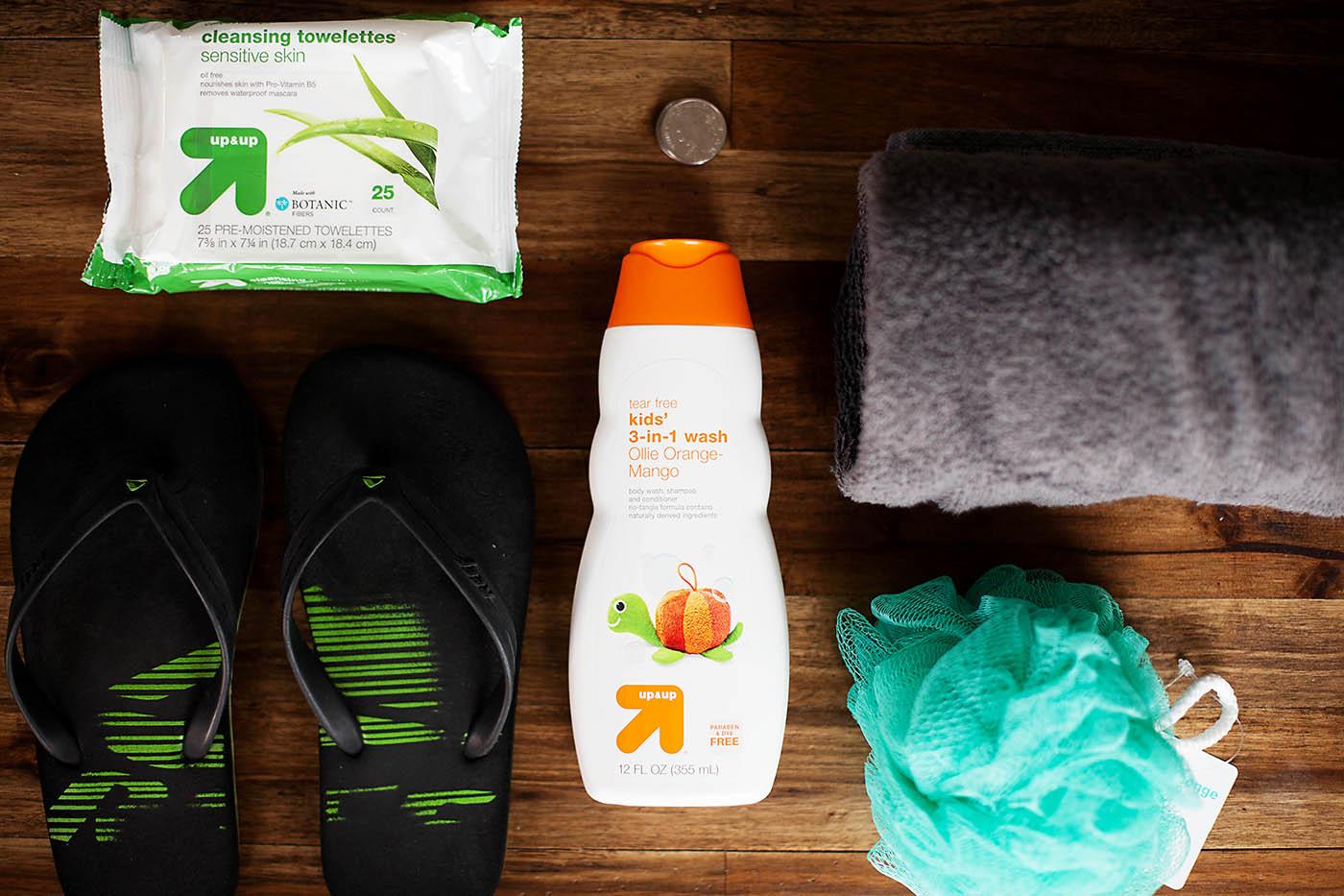 Camping shower tips for kids with Target Up & Up at allfortheboys.com